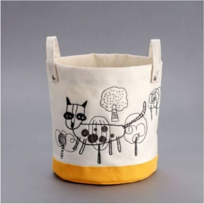Leopard Cat Lost in the Forest朵拉 - 石虎Round Small Storage Bag
